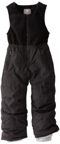 White Sierra Kid's Insulated Snow Bibs (Black,