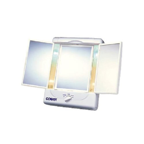Conair Home Vanity Collection 3 Panel Lighted Makeup Mirror (Lighted Vanity Mirror Conair compare prices)