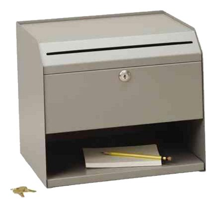 STEELMASTER Counter-Top Slotted Suggestion Box, Includes Keys, 12.5 x ...