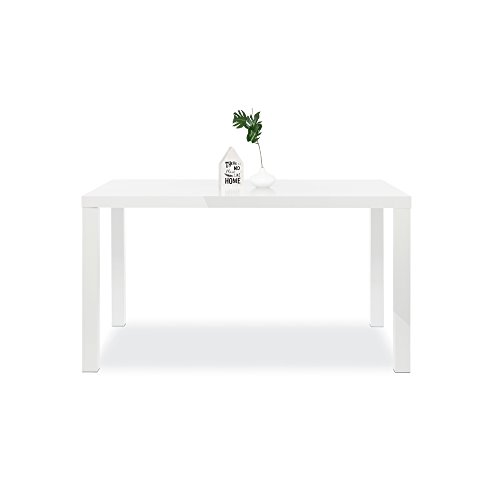 Esstisch-Esszimmertisch-Kchentisch-Schreibtisch-Primo-Hochglanz-wei-140x80-cm