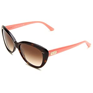 Kate Spade Women's ANGELIQS Cat Eye Sunglasses,Tortoise Blush Frame/Brown Gradient Lens,One Size