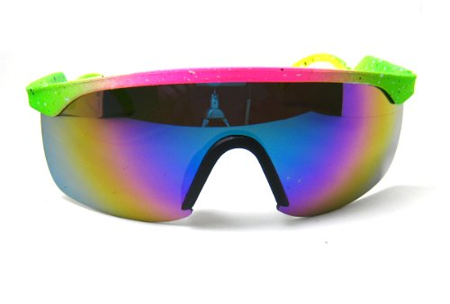 ba9bb217b0 Green And Pink 80s Glasses