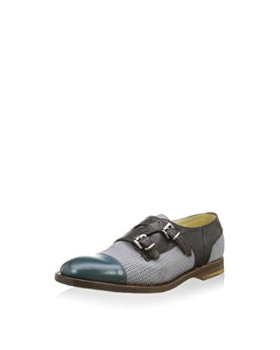 Barracuda Zapatos Monkstrap Gris / Negro / Azul