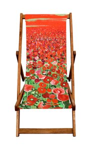 Art Print Designer Deck Chair - Poppy