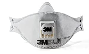 3M 9211 Cool-Flow N95 Particulate Sanding Respirator, 10-Pack