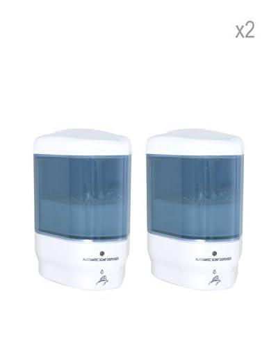Wenko Set 2  Dispenser Sapone Infrarosso Trieste Bianco 11 X 16,5 X 10,5