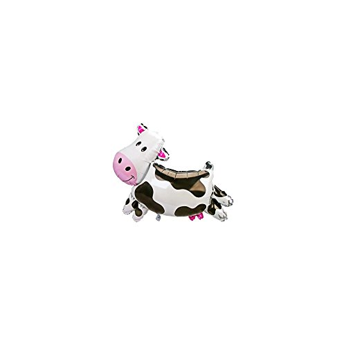 Mayflower Distributing Unisex Adult Cow Shaped Jumbo Foil Balloon Black Medium