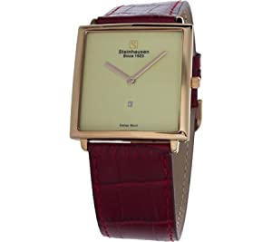 Steinhausen Men's MW516RGRA Artiste Analog Display Swiss Quartz Red Watch