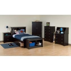 Cheap Kids Bedroom Furniture Set 1 in Black – Sonoma Collection – Prepac Furniture – SNM-KBSET-1 (SNM-KBSET-1)
