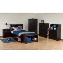 Cheap Kids Bedroom Furniture Set 1 in Black – Sonoma Collection – Prepac Furniture – SNM-KBSET-1 (SNM-KBSET-1)