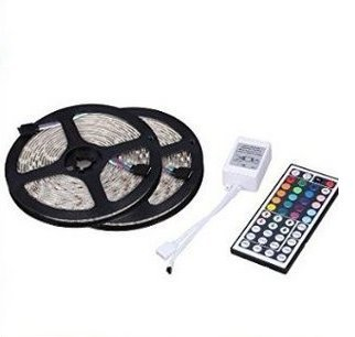 GenLed Two Rolls 32.8Ft 600LED 5050 SMD Waterproof Flexible Multicolor RGB LED Light Strip For Decoration + 44 Key Remote Controller 2016 good quanlity (Tao Led Lighting compare prices)