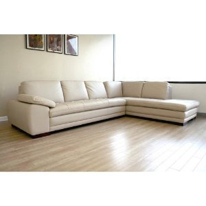 Jaquenetta leather sectional color beige for Amazon sectional sofa with chaise