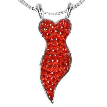 Ashley Arthur .925 Silver Light Siam Swarovski Crystal