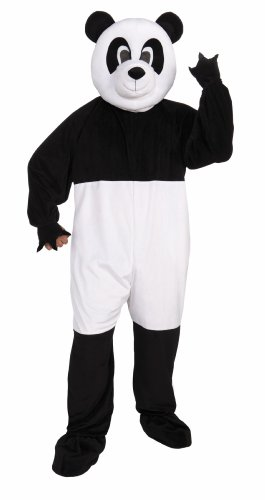 Forum Promotional Mascot Panda Costume, Black/White, Standard