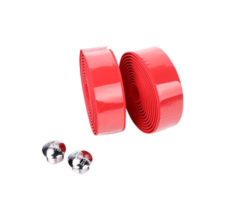 Simple Cycling Bicycle Bike Fixies Fixed Gear Bike Single Speed Bike Cork Handlebar Tape Wrap With 2 Bar Plug - Red front-27669