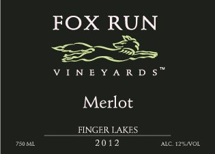 2012 Fox Run Vineyards Finger Lakes Merlot 750 Ml