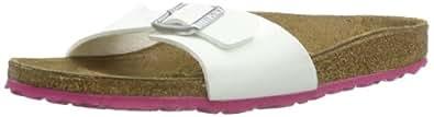 Birkenstock Madrid Birko Flor, Mules femme - Blanc (White/Ls Pink), 35 EU