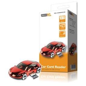 basicXL USB 2.0 Car Shaped Hub and Card Reader
