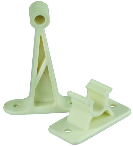 Jr Products 10214 3 Inch Cw Plastic C-Clip Style Door Holder