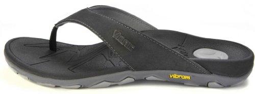 aa60da46cf43 Vionic Mens Bryce Toe Post Sandal Black Grey Size 10 - Import It All