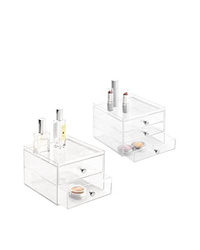 InterDesign 2-Pack Clarity Drawer Organizers, Clear
