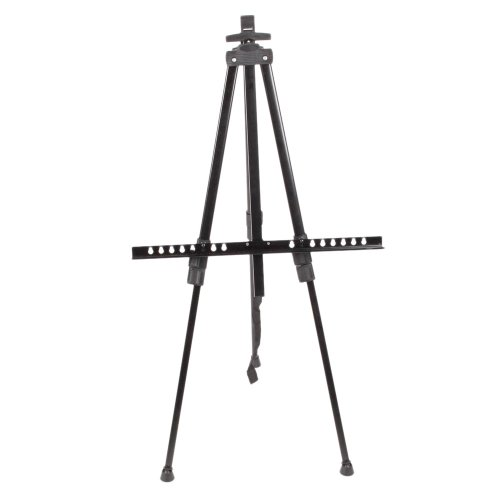 MicroMall(TM) Aluminium Alloy Profession Artist Tripod Painting Desk Easel Drawing Stand Holder with Carry Bag for Sketching Painting (Black)