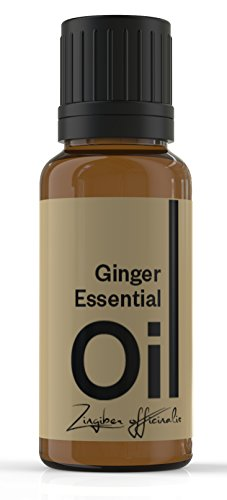 Cielune Ginger Essential Oil - 100% Pure, All Natural Premium Zingiber Officinalis Oil - Therapeutic Grade for Alternative Medicine - Ideal for Aromatherapy & Massage - Used for Stomach Problems, Inflammation & Respiratory Disorders - Satisfaction Guarant