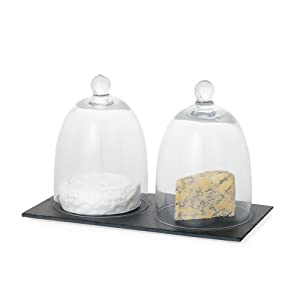 Torre and Tagus Meridian Double Glass Dome/Slate Set