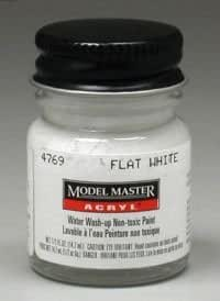 Testor Corp. Flat White Testors Acrylic Plastic Model Paint