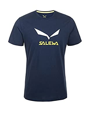 Salewa Camiseta Manga Corta Solidlogo Co M S (Azul Oscuro)