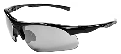 Sunglasses JM12 Sports Wrap for Baseball, Softball, Cycling,Golf TR90 Frame Mirror Lens (Black Smoke)