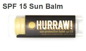 Image of Hurraw! Balm, Sun Protection Lip Balm SPF15, Tangerine Chamomile, .15 oz (4.3 g)