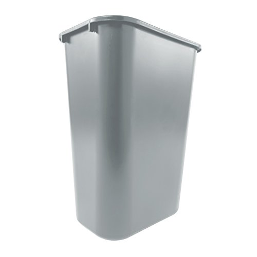 Rubbermaid Commercial Deskside Trash Can, 10 Gallon, Gray (FG295700GRAY) (Step Garbage Can 13 Gallon compare prices)