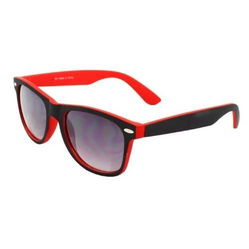 4sold (TM) New Two Tone Red & Black Wayfarer Classic Unisex (Mens, Womens) Geek Style retro 1980's Wayfarer Fashion...