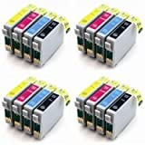 16 New Version Premium Quality High Capacity 100% Compatible ink cartridges for Epson Stylus Multipack 18 XL 18XL T1806 T1816 Expression Home XP30 compatible with T1801 T1802 T1803 T1804 T1806 T1811 T1812 T1813 T1814 T1816 (4 noir 4 cyan 4 magenta 4 yell