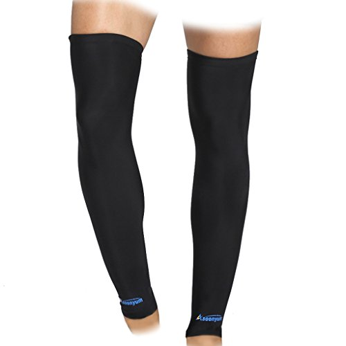 Compression Leg Sleeves - ASOONYUM Sports Shin Calf Compression Sleeve Socks for Shin Splints Arthritis Men Women - Basketball, Running, Football Knee Brace Support With Silicone Anti-Slip Black (American Football Pants compare prices)