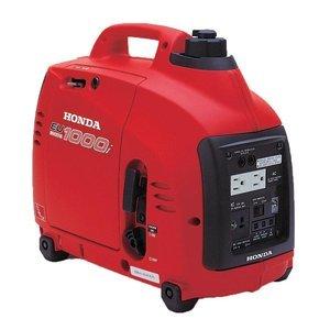 Honda EU1000i Inverter Generator, Super Quiet, Eco-Throttle, 1000 Watts/8.3 Amps @ 120v (Red) (Honda Gas Generator compare prices)