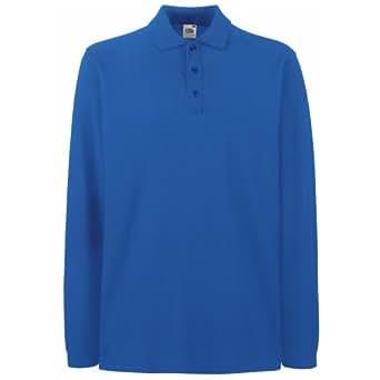 Polo à manches longues Fruit Of The Loom pour homme (S) (Bleu royal)