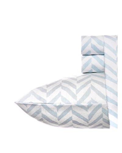 Laura Ashley Chevron Cot Sheet Set Flannel