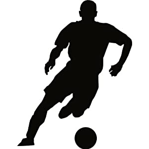 Soccer Wall Decal Sticker - 18 in. Soccer Player Silhouette Decoration