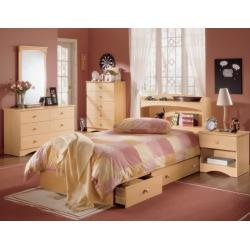 Cheap Kids Bedroom Furniture Set 2 in Natural Maple – Alegria Collection – Nexera Furniture – 400125 (B004CVXKTG)