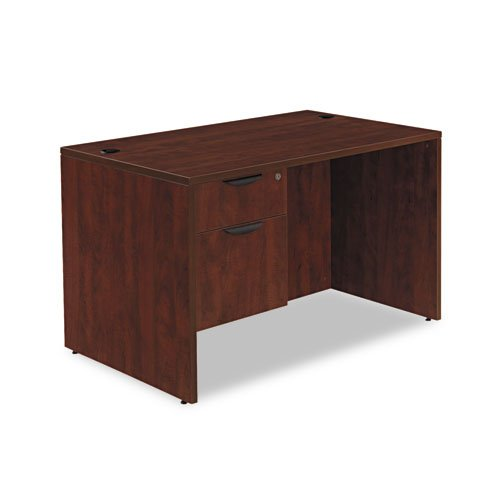 Alera Va214830My Valencia Series 48 By 30 By 29-1/2-Inch Desk Shell, Rectangular Top, Mahogany