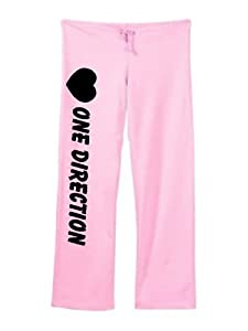 One Direction Cute Sweatpants Pink Size Medium by Custom