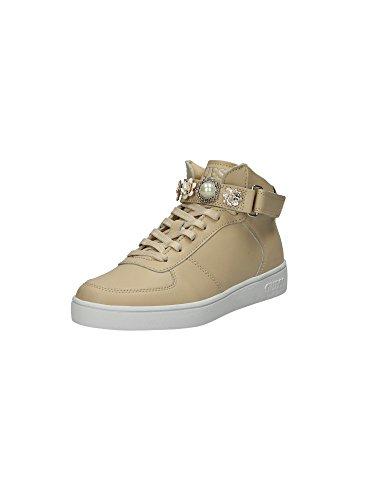 Scarpe Sneakers Alte Donna Guess Mod. Suzette FLSUT1-LEA12 Col. Beige (36).