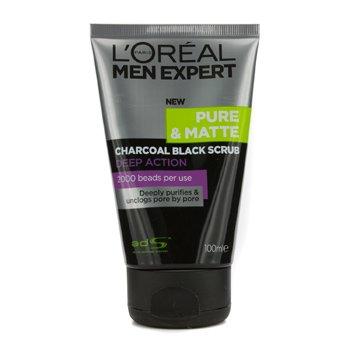L'Oreal Paris Men Expert Pure & Matte Charcoal Black Scrub 100ml/3.3oz