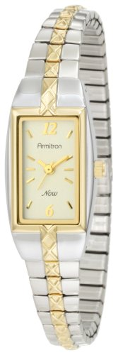 Armitron Mujer 753415CHTT NOW Two-Tone Stainless Steel Expansion Bracelet Dress Reloj