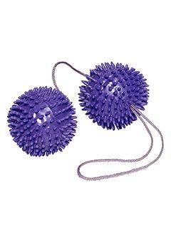 Boules-de-GEISHA-PICOTS-Massants-SPECIAL-MUSCULATION-Prine-Plaisir-Intense-Silicone-Secousse-de-Plaisirs-Rducation-du-prine-aprs-Grossesse-Les-deux-boules-sintroduisent-dans-le-vagin-Violet-NEUF
