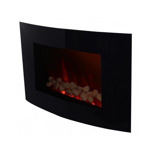 """35"""" Large Electric Wall Mounted Fireplace Heater With Remote Control, Energy Efficient, Glowing Flame"""