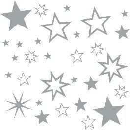 30 Stück Sterne Silber Aufkleber, Mix-Set, Fensterdekoration zu Weihnachten Fensterbild / Fensteraufkleber, Wandtattoo Deko Sticker, Autoaufkleber, Weihnachtsdekoration, Schaufenster In- und Outdoor 70001