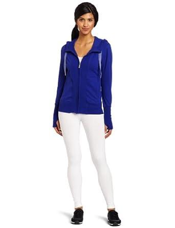 (暴跌)卡尔文Calvin Klein Women's Zipper Hoodie Jacket美女连帽休闲衫蓝$21.78